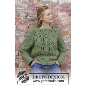 Miss Moss by DROPS Design - Knitted Jumper Pattern Sizes S - XXXL