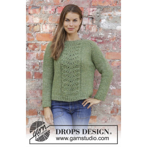 Clover by DROPS Design - Knitted Jumper Pattern Sizes S - XXXL