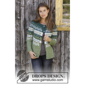 Bardu Jacket by DROPS Design - Knitted Jacket Pattern Sizes S - XXXL