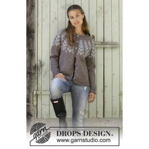 Inner Circle Jacket by DROPS Design - Knitted Jacket Pattern Sizes S - XXXL