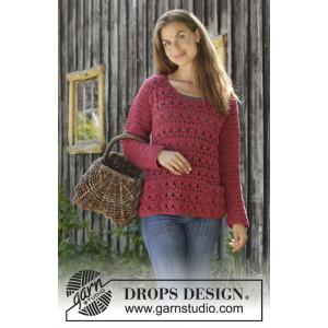 Last Harvest by DROPS Design - Crocheted Jumper Pattern Sizes S - XXXL