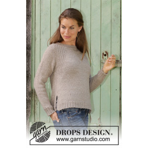 Wednesday Mood by DROPS Design - Knitted Jumper Pattern Sizes S - XXXL