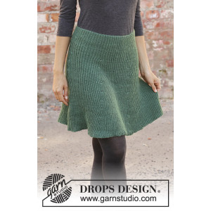 See You In Dublin by DROPS Design - Knitted Skirt Pattern Sizes S - XXXL