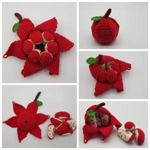 Karla's Apple by Rito Krea - Fruit Crochet Pattern 10cm