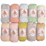 Mayflower Cotton 8/4 Junior Pastel Yarn Pack Assorted Colors - 10 balls
