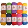 Mayflower Cotton 8/4 Junior Rainbow Yarn Pack Assorted Colors - 10 balls