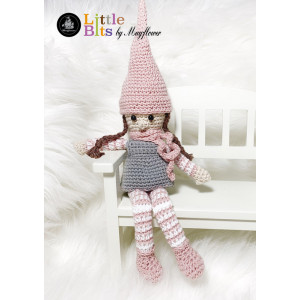 Mayflower Little Bits Naja the Girl Elf - Crochet Girl Elf Pattern