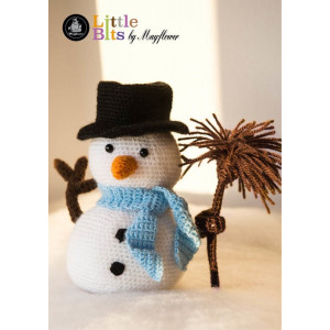 Mayflower Little Bits Simon the Snowman - Crochet Snowman Pattern