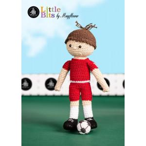 Mayflower Little Bits Frederik the Soccer Player - Crochet Doll Pattern