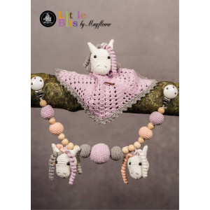 Mayflower Little Bits Baby Set with Horses - Crochet Security Blanket and Stroller Chain Pattern
