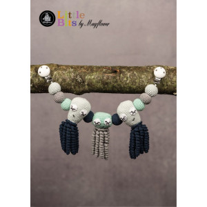 Mayflower Little Bits Stroller Chain with Octopuses - Crochet Stroller Chain Pattern