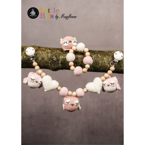 Mayflower Little Bits Baby Set with Owls - Crochet Rattle and Stroller Chain Pattern