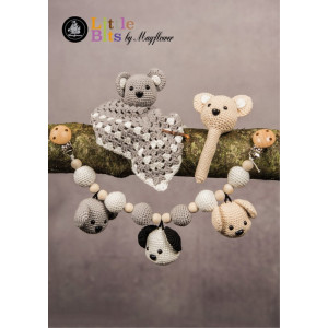 Mayflower Little Bits Baby Set with Bears - Crochet Rattle, Security Blanket and Stroller Chain Pattern