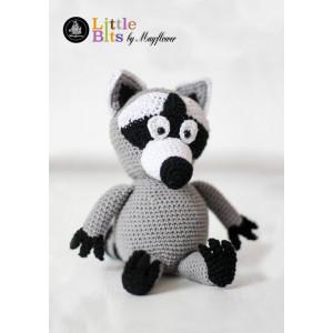 Mayflower Little Bits Valde the Raccoon - Crochet Teddy Pattern