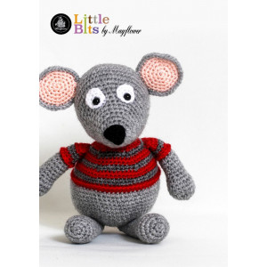 Mayflower Little Bits Magnus the Christmas Mouse - Crochet Christmas Mouse Pattern