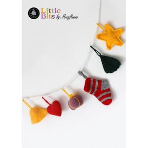 Mayflower Little Bits Christmas Ornaments on a String - Crochet Christmas Ornament Pattern