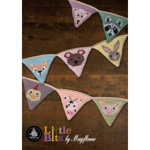 Mayflower Little Bits Pennant Banner with Animals - Crochet Pennant Pattern