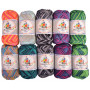 Mayflower Cotton 8/4 Junior Print Yarn Pack Assorted Print Colors - 10 balls