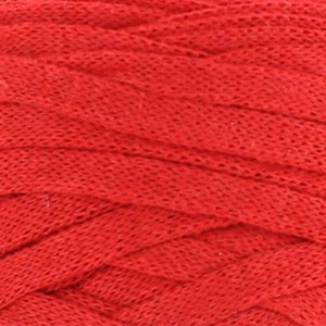 Hoooked Ribbon XL Fabric Yarn Unicolor 34 Lipstick Red