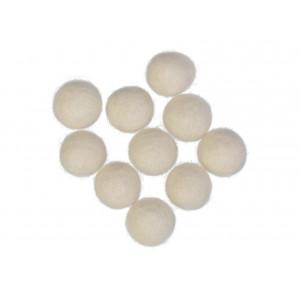 Felt Balls Wool 20mm Off White W1 - 10 pcs