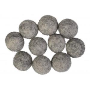 Felt Balls Wool 20mm Grey Mix - 10 pcs