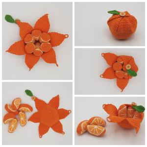 Karla's Orange by Rito Krea - Fruit Crochet Pattern 10cm