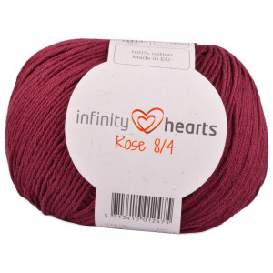 Infinity Hearts Rose 8/4 Yarn Unicolor 24 Bordeaux Red