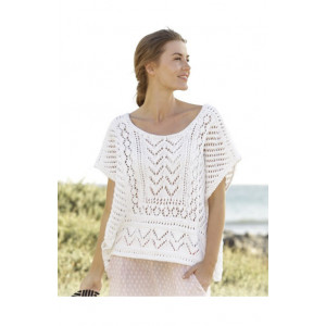 All Smiles by DROPS Design - Knitted Top Pattern size S - XXXL