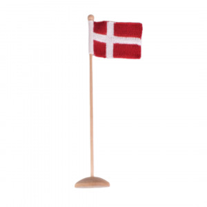 Knitted Dannebrog/Danish flag from Rito Krea - Flag Knitting pattern 12x16cm