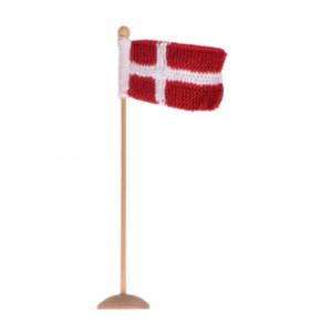 Knitted Dannebrogs flag by Rito Krea - Flag Knitting pattern 8x12cm