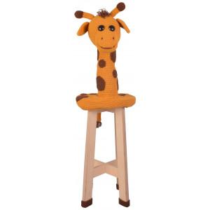 Giraffe Stool by Rito Krea - Stool upholstery crochet pattern