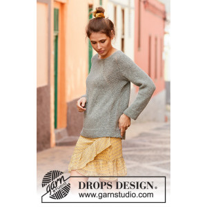 Stone Fields by DROPS Design - Knitted Jumper Pattern Sizes S - XXXL