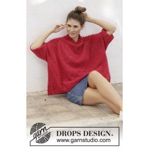 Strawberry Swing by DROPS Design - Knitted blouse Pattern Sizes S - XXXL