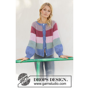 Sweet Country Sunrise Jacket by DROPS Design - Knitted Jumper Pattern Sizes S - XXXL