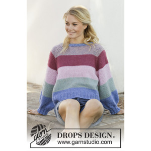 Sweet Country Sunrise by DROPS Design - Knitted Jumper Pattern Sizes S - XXXL