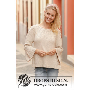 Spring Song by DROPS Design - Knitted Jumper Pattern Sizes S - XXXL