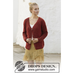 Robin Song Jacket by DROPS Design - Knitted Jacket Pattern Sizes S - XXXL