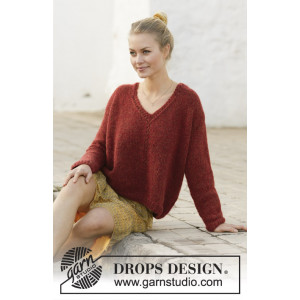 Robin Song by DROPS Design - Knitted Jumper Pattern Sizes S - XXXL