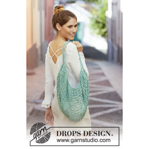 Hedera Tote by DROPS Design - Tote bag Crocheted pattern 60x72 cm