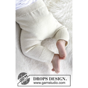 Cozy and Cute by DROPS Design - Baby Bukser Strikkeopskrift str. 1 months - 4 years