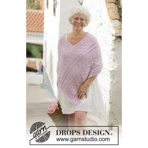 Sweet Nancy by DROPS Design - Poncho Knitting Pattern size S - XXXL