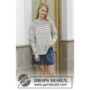 Mina Pullover by DROPS Design - Blouse Knit pattern size S - XXXL