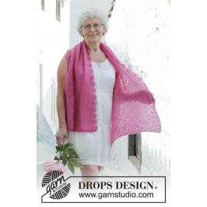 Rosenquarz by DROPS Design - Scarf Knitting Pattern 136x46 cm