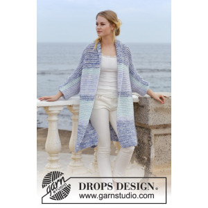 La Mare by DROPS Design - Jacket Knitting pattern size S - XXXL