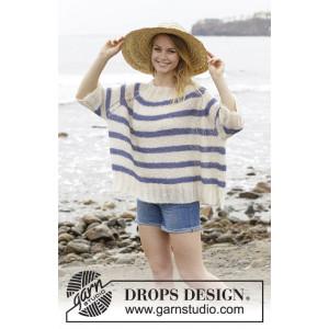 Riviera Stripes by DROPS Design - Blouse Pattern size S - XXXL