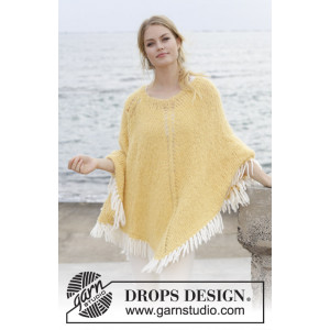 Soldans by DROPS Design - Poncho Knitting Pattern S - XXXL