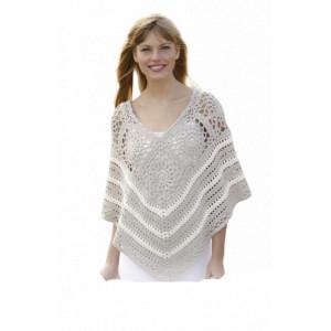 Sweet Martine by DROPS Design - Crochet Poncho Pattern Size S - XXXL
