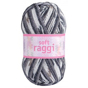 Järbo Soft Raggi Yarn Print 31205 Grey