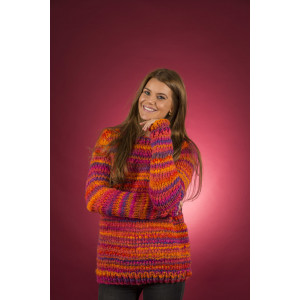 Mayflower Easy Knit Women Sweater with Round neck - Knitted Jumper Pattern Sizes S - XXXL