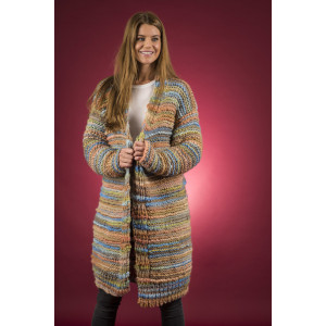 Mayflower Easy Knit Open, Long Jacket - Knitted Jacket Pattern Sizes S - XXXL